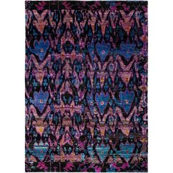 Solo Rugs M6067-24 Sari Silk Hand Knotted Area Rug, 8'8″ x 12'0″, Purple