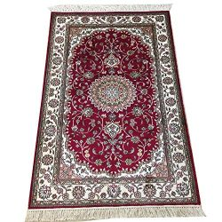 YILONG CARPET 2.5′ x 4′ Handmade Silk Rug for Living Room Oriental Traditional Kasha ...