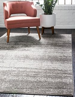 Unique Loom Del Mar Collection Contemporary Transitional Gray Area Rug (9′ x 12′)