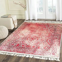Home Must Haves Burgundy Beige High Density Luxury Large Soft Faux Silky Persian Traditional Ori ...