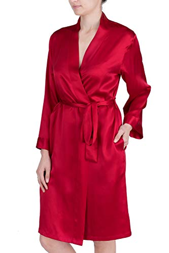 OSCAR ROSSA Women's Luxury Silk Sleepwear 100% Silk Robe Kimono