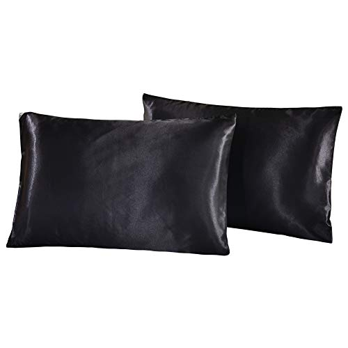 DOMIKING Silk Satin Pillowcase – 2 Pack Pillow Cases Queen Size/King Size for Hair and Ski ...