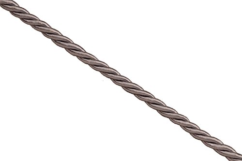 3mm grey satin finished braided nylon cord sold per 6foot