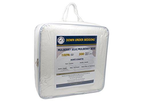 DOWN UNDER 100% Mulberry Silk Filled Duvet/Comforter (Queen)