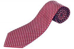 Extra Long Deep Red Silk Tie
