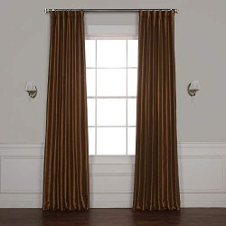 Half Price Drapes PDCH-KBS36BO-108 Blackout Vintage Textured Faux Silk Curtain, 50 x 108, Copper ...