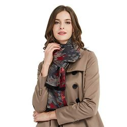 CUDDLE DREAMS Women's Silk Scarves for Winter, 100% Mulberry Silk Brushed, Luxuriously Sof ...