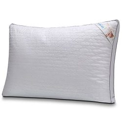BINMA Pillow, Silk Cotton Bedding Pillow, Dust and Mite Repellent Filler with Geometry Patterns  ...