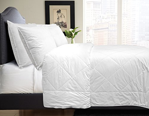Veratex SILK HAVEN COMFORTER FULL/QUEEN WHITE