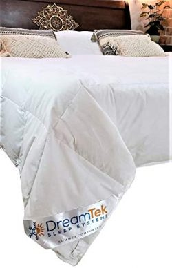 DreamTek Luxurious Down Comforter All Season Capable w/Smart Snap System A Summer Light Weight + ...
