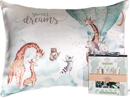 Toddler Pillowcase 100% Silk – Kids Pillow Cover 13×18 – Natural, Hypoallergeni ...