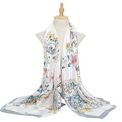 Bellonesc Women Scarves Fashion Lightweight Sunscreen 100% Silk Scarfs for Women