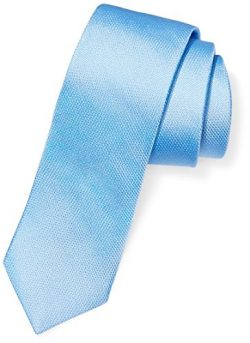 BUTTONED DOWN Men's Classic Silk 3″ Necktie, Light Blue Texture, Regular