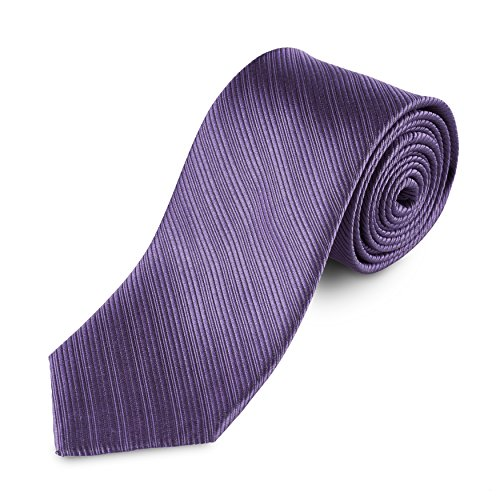 "Lantier Designs Men's Classic 100% Silk Textured Necktie, 3"", Purple"