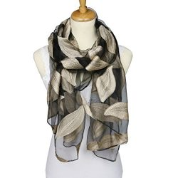 ChikaMika Silk Scarves for Women 100% Silky Voile Made Lightweight Silk Scarves (silver)