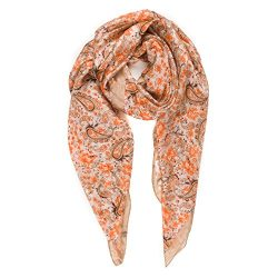 Scarf for Women 100% Silk Spring Wedding Party Event Fashion Lightweight Scarves (NS25-9)