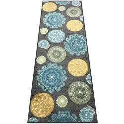 Silk & Sultans Agathe Collection Contemporary Medallion Design, Pet Friendly, Non-Skid Runne ...