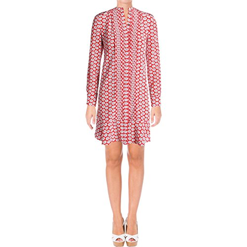 Tory Burch Womens Cora Floral Print Long Sleeves Shirtdress