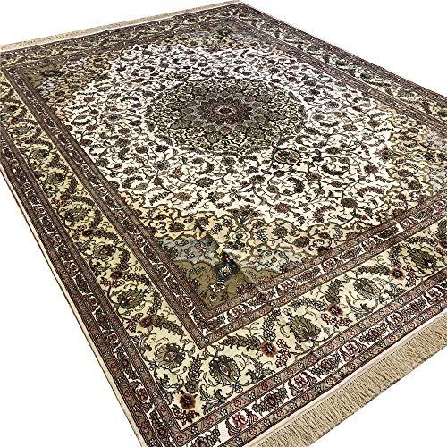 Camel Carpet 9′ x 12′ Persian Silk Carpet Hand Made Antique Oriental Rug