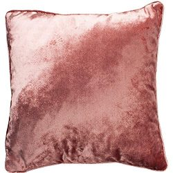 McAlister Plush Shiny Velvet Pillow Cover Sham | 22×22 Rose Blush Pink Decorative Throw Cus ...