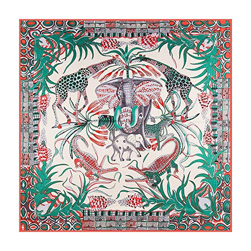 NUWEERIR Womens Extra Large Scarf 100% Twilled Silk Square Scarf Blanket Scarf Shawl Wraps 51 ...