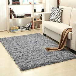 ZUIYIN Bath Mat Shaggy Rug,Silk Hair Non-Slip Carpet Shag Rug Floor Mat Carpet Decoration Living ...