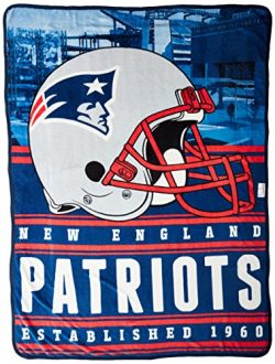 Northwest Officially Licensed NFL New England Patriots Stacked Silk Touch Throw Blanket, 60&#824 ...