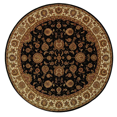 Safavieh Persian Court Collection PC123B Handmade Plum and Ivory Wool Round Area Rug (8′ D ...