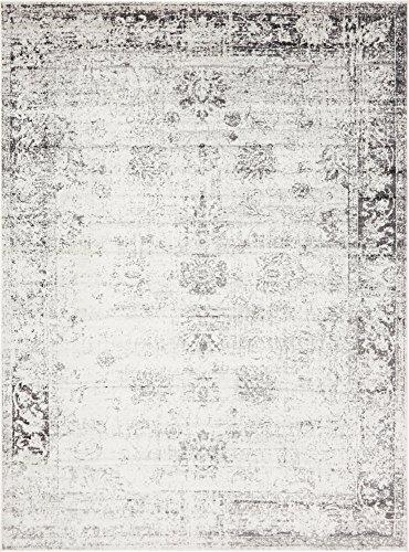 Unique Loom Sofia Collection Traditional Vintage Gray Area Rug (8′ x 11′)