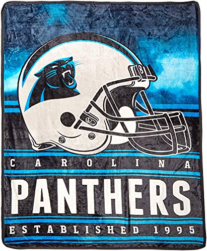 Northwest Officially Licensed NFL Carolina Panthers Stacked Silk Touch Throw Blanket, 60″  ...