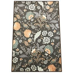 Silk & Sultans Agathe Collection Floral Design, Pet Friendly, Non-Slip Area Rug with Rubber  ...