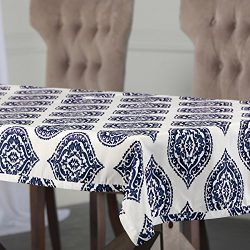 PTPCH-170808A-TC-84 Donegal Designer Faux Silk Taffeta Table Cloth, Blue, 54 x 84