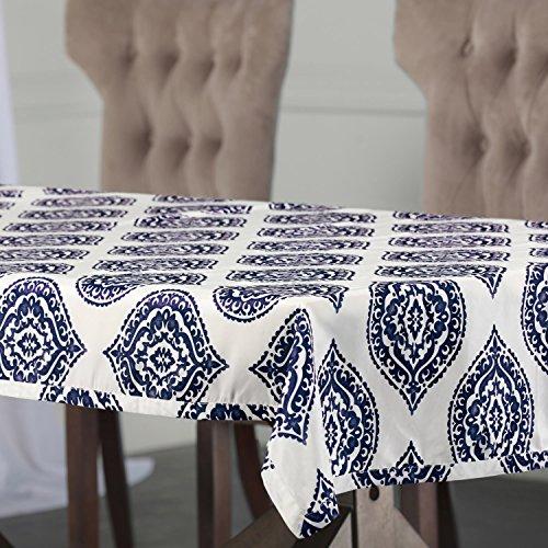 PTPCH-170808A-TC-84 Donegal Designer Faux Silk Taffeta Table Cloth, Blue, 54 x 84