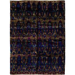 Solo Rugs M6067-27 Sari Silk Area Rug, 8 x 11′ 10″, Blue