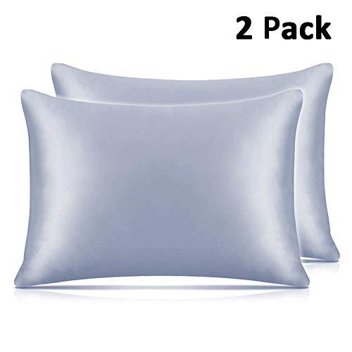 Adubor Silk Satin Pillowcase 2 Pack Silky Pillow Cases For