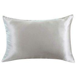 ZIMASILK 100% Natural Silk Pillowcase for Hair and Skin Health,Both Sides 19 Momme Silk,1pc(Stan ...