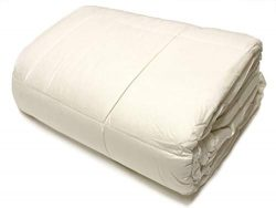 OrganicTextiles Wool Filled Bed Comforter, Encased in 100% Organic Cotton, Washable and Naturall ...