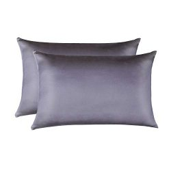 JiangJue 100% Mulberry Silk Pillowcases Set of 2 for Hair and Skin and Super Soft and Breathable ...
