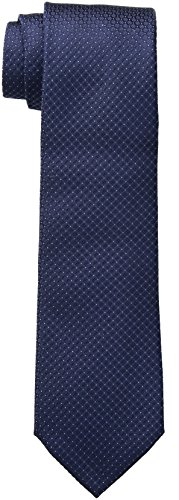 Calvin Klein Men's Steel Micro Solid A Tie, Navy, Regular