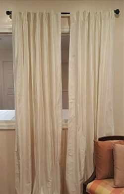 Parisian Home Style – New! Finest 100% Silk Dupioni Drapes Pole Pocket Back Made in India  ...