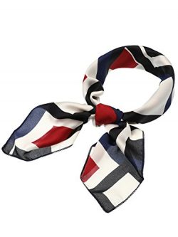SATINIOR Silk Like Scarf Square Scarf Satin Headscarf Neck Scarves for Women and Girls (Print 10)