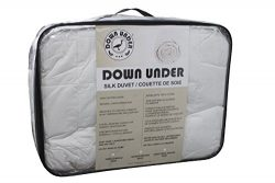 DOWN UNDER Washable Oversized Twin Long Strand Silk Duvet Comforter Blanket 44oz