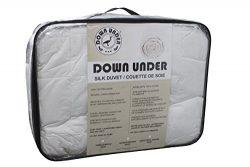 DOWN UNDER Washable Oversized Twin Long Strand Silk Duvet Comforter Blanket 44oz