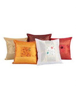 Vintage Ethnic Indian Rajasthani Decor – Traditional Cotton Cushion Covers 16 x 16 Set of  ...