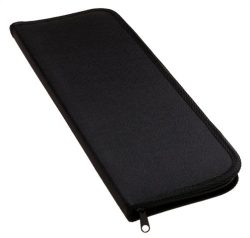 Household Essentials 06704 Travel Tie Storage Case | Tie Holder Stores up to 6 Ties | Black