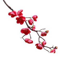 Artificial Silk Flowers,UMFun Artificial Silk Fake Flowers Plum Blossom Floral Wedding Bouquet P ...