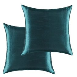 Kevin Textile Double Square Luxurious Faux Silk Home Decorative Throw Pillow Cases Cushion Cover ...