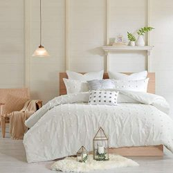 Urban Habitat Brooklyn Teen Girls Duvet Cover Set Full/Queen Size – Ivory, Tufted Cotton C ...