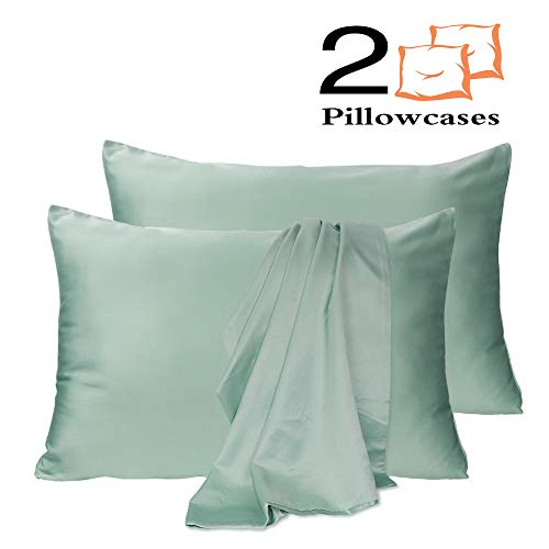 Leccod 2 Pack Silk Satin Pillowcase For Hair And Skin Cool