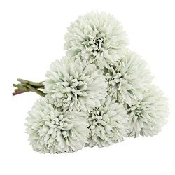 Artificial Flowers, Fake Flowers Silk Plastic Artificial Hydrangea 6 Heads Bridal Wedding Bouque ...